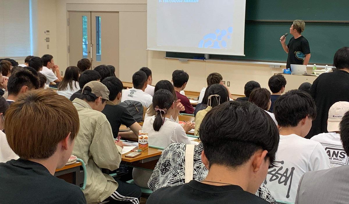 「転機」を「好機」に。HR 金が京都産業大学で講義を行いました